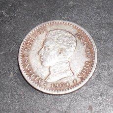 Monedas de España: 50 CENTIMOS ALFONSO XIII 1904 04 PLATA. Lote 56052915