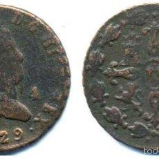 Monedas de España: FERNANDO VII, 4 MARAVEDIS 1829 DE SEGOVIA. Lote 56104955