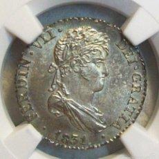 Monete da Spagna: FERNANDO VII. FLOR DE CUÑO 1 REAL 1831 SEVILLA. NGC MS63. Lote 56242735