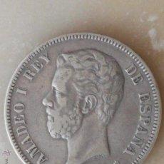 Monedas de España: MONEDA PLATA DE 5 PESETAS - AMADEO I - 1871 - 18-71 - MADRID SD M - MBC-EBC. Lote 49898244