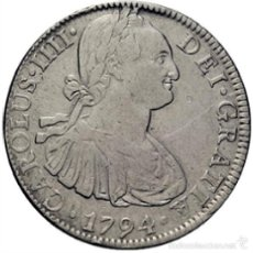 Monete da Spagna: CARLOS IV. 8 REALES. 1794. PLATA. Lote 56480864