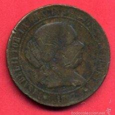 Monedas de España: MONEDA COBRE, 5 CENTIMOS DE ESCUDO 1867 , ISABEL II , BARCELONA , MBC , ORIGINAL , A6 - 3. Lote 56573702