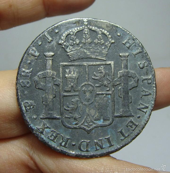 Monedas de España: 8 Reales. Plata. Carlos IV. Potosi - PJ - 1808 - Foto 2 - 56639075