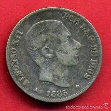 Monedas de España: MONEDA DE PLATA , 10 CENTAVOS 1885 , MANILA FILIPINAS, MBC ,ORIGINAL, ALJ1. Lote 56738515