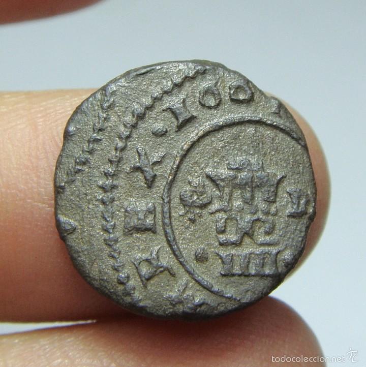 Monedas de España: 4 Maravedís. Felipe IV. Granada - 1661 - Foto 2 - 56829154