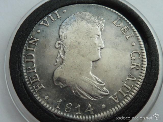 Moneda De Plata De 8 Reales De Fernando Vii De Comprar Monedas De