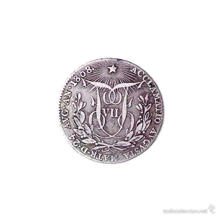 MEDALLA DE PLATA PLOCLAMACIÓN FERNANDO VII. MÓDULO 2 REALES. AÑO: 1808 (Numismática - España Modernas y Contemporáneas - De Reyes Católicos (1.474) a Fernando VII (1.833))