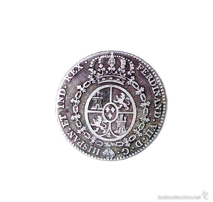 Monedas de España: Medalla de plata monetiforme de módulo 2 reales, aclamación como rey de Fernando VII. Año: 1808 - Foto 2 - 57048144