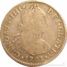 Monedas de España: ESPAÑA. CARLOS IV. 2 REALES 1.791 LIMA. Lote 57075654