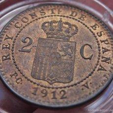 Monedas de España: 2 CÉNTIMOS 1912(*12). ALFONSO XIII. SC, RESTOS DE BRILLO ORIGINAL. Lote 57117893