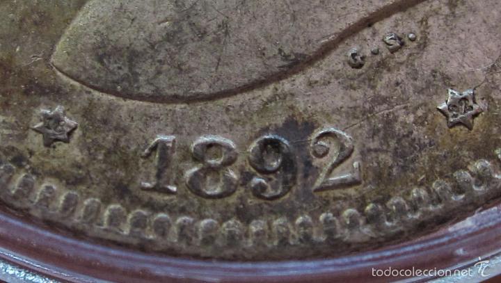 Monedas de España: ESCASAS 2 PESETAS 1892 (*18*92). ALFONSO XIII. EBC - Foto 4 - 57218709