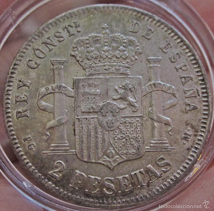 Monedas de España: ESCASAS 2 PESETAS 1892 (*18*92). ALFONSO XIII. EBC - Foto 5 - 57218709