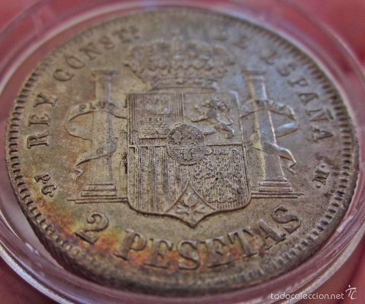 Monedas de España: ESCASAS 2 PESETAS 1892 (*18*92). ALFONSO XIII. EBC - Foto 8 - 57218709