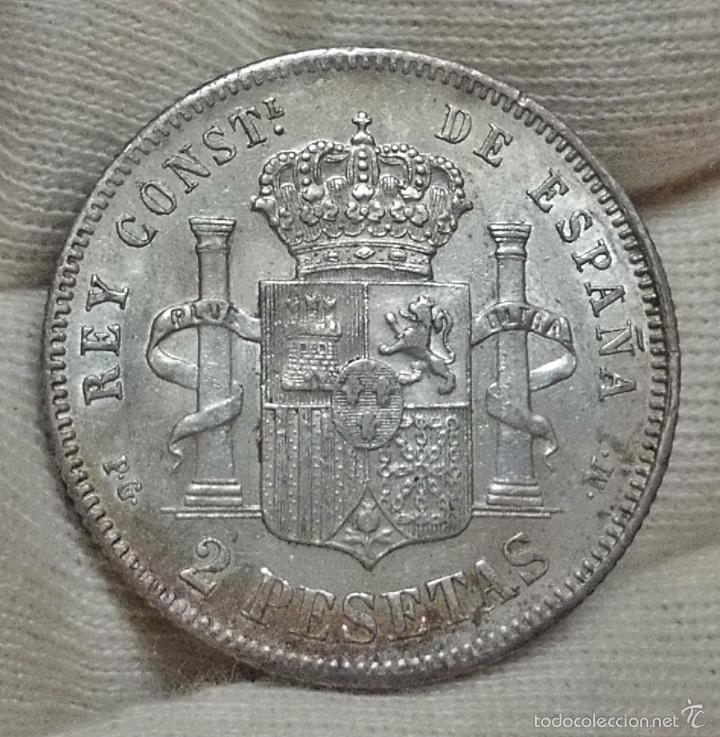 Monedas de España: ESCASAS 2 PESETAS 1892 (*18*92). ALFONSO XIII. EBC - Foto 12 - 57218709