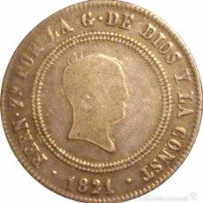 Monedas de España: FERNANDO VII. 10 REALES 1.821. BILBAO. Lote 41317453