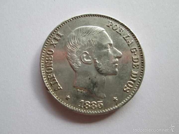 ALFONSO XII * 50 CENTAVOS DE PESO * 1885 * FILIPINAS * PLATA (Numismática - España Modernas y Contemporáneas - De Isabel II (1.834) a Alfonso XIII (1.931))