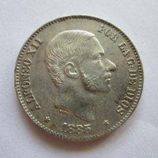 Monedas de España: ALFONSO XII * 50 CENTAVOS DE PESO * 1885 * FILIPINAS * PLATA. Lote 57382397