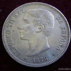 Monedas de España: ESPAÑA 5 PESETAS 1876 ESTRELLAS 18 76 DEM ALFONSO XII. Lote 57624977