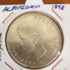 Monedas de España: MONEDA 5 PESETAS PLATA DE ALFONSO XIII DE 1898. Lote 57693227