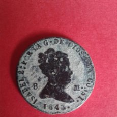Monedas de España: ISABEL II. 8 MARAVEDÍS DE 1843. SEGOVIA. . Lote 57737759