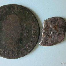Monedas de España: MON 942 - 2 MONEDAS: MACUQUINA DE LOS AUSTRIAS (PLATA) Y 8 MARAVEDÍS 1815 DE JUBIA.. Lote 57752534