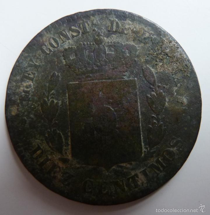 Monedas de España: DIEZ CÉNTIMOS. AÑO 1879 - Foto 2 - 57765163