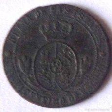 Monedas de España: MONEDA DE MEDIO CENTIMO DE ESCUDO DE 1868. Lote 57793913