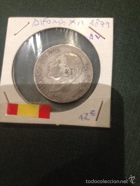 MONEDA 2 PESETAS PLATA 1879 ALFONSO XII (Numismática - España Modernas y Contemporáneas - De Isabel II (1.834) a Alfonso XIII (1.931))