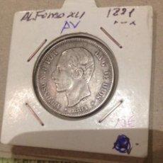 Monedas de España: MONEDA ALFONSO XII 1881 2 PESETAS PLATA. Lote 58074099
