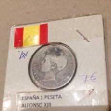 Monedas de España: MONEDA 1 PESETA PLATA , ALFONSO XIII 1900 DESGASTADA. Lote 58074139