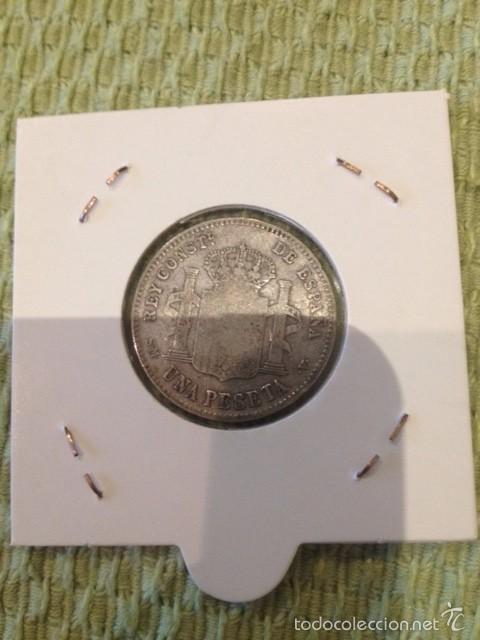 Monedas de España: moneda 1 peseta plata 1900 alfonso XIII - Foto 2 - 58087202