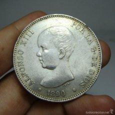 Monedas de España: 5 PESETAS. PLATA. ALFONSO XII. 1890 _ MPM *18 *90. Lote 58177408