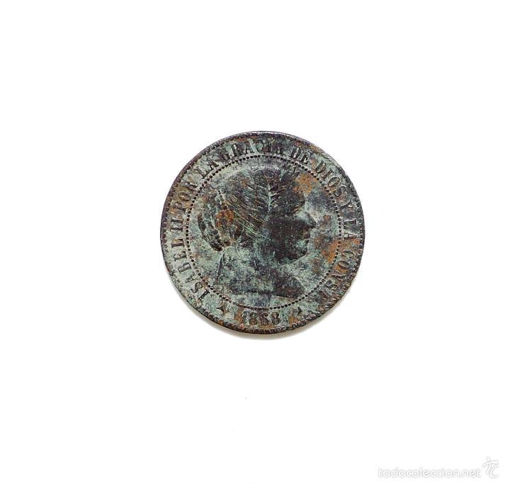 ISABEL II - 2 1/2 CENTIMOS DE ESCUDO 1868 SEGOVIA. (Numismática - España Modernas y Contemporáneas - De Isabel II (1.834) a Alfonso XIII (1.931))