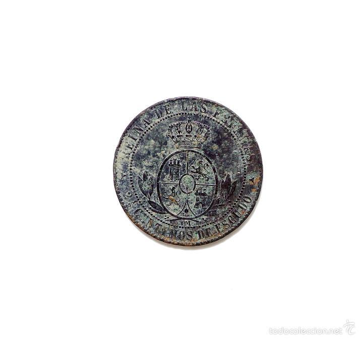 Monedas de España: ISABEL II - 2 1/2 Centimos de Escudo 1868 Segovia. - Foto 2 - 58188498
