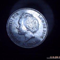 Monedas de España: BUSCADA MONEDA PLATA P.G.V. CINCO PESETAS ALFONSO XIII. 1893. EXCELENTE. ESCASAS .. Lote 58208545