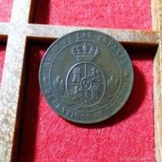Monedas de España: ISABEL II: 2 1/2 CTS DE ESCUDO-CU. OM JUBIA AÑO 1868. Lote 58874086
