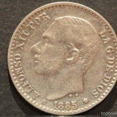 Monedas de España: 50 CÉNTIMOS 1885 *8 *6 ALFONSO XII ESPAÑA PLATA . Lote 58496815
