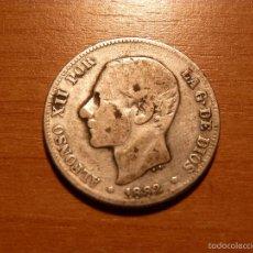 Monedas de España: MONEDA DE 2 PESETAS DE ALFONSO XII. AÑO 1882. CIRCULADA.. Lote 58580365