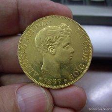 Monedas de España: 100 PESETAS DE ORO - ALFONSO XIII 1897 * 18 - 97 - EBC+/S/C- BRILLO ORIGINAL - PRECIOSA. Lote 58591503