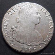 Monedas de España: 8 REALES 1808 POTOSÍ PJ CARLOS IV. Lote 58615391