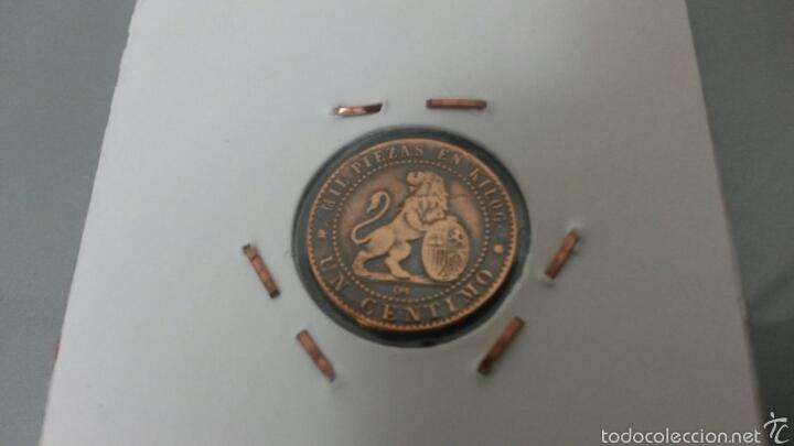 Monedas de España: 1 CENTIMO 1870 GOBIERNO PROVISIONAL - Foto 2 - 58617951