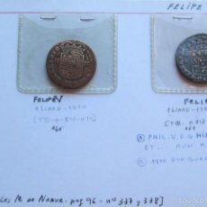 Monedas de España: FELIPE V - 2 DIFERENTES DE NAMUR - LIARD. Lote 58774996