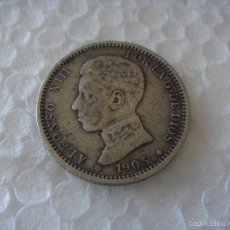 Monedas de España: ESPAÑA 1903 (*19-03) SMV - 1 PESETA PLATA - ALFONSO XIII - SPANISH SILVER COIN. Lote 58867471