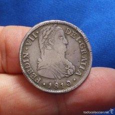 Monedas de España: 2 REALES FERNANDO VII - 1810 SANTIAGO - BUSTO ALMIRANTE - PLATA. Lote 59069170