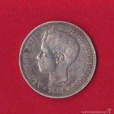 Monedas de España: 5 PESETAS 1898 ALFONSO XIII, SG - V, 1898/98, VF. Lote 59119835