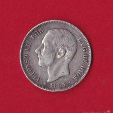 Monedas de España: 5 PESETAS 1885 ALFONSO XII, MS - M, 1885/85, VF. Lote 59138360