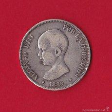 Monedas de España: 5 PESETAS 1889 ALFONSO XIII, MP - M, 1889/89, VF. Lote 59138485