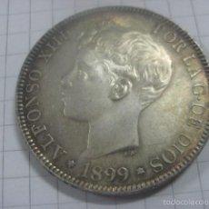 Monedas de España: EXTRAORDINARIAS 5 PESETAS DE PLATA ALFONSO XIII 1899*18-99. EBC++, BRILLO ORIGINAL, PRECIOSA PATINA. Lote 59512931