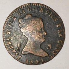 Monedas de España: 8 MARAVEDIS DE 1844, ISABEL II, CECA JUBIA. Lote 60078663