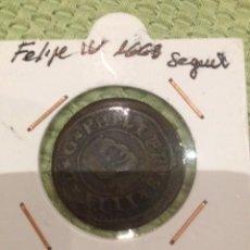 Monedas de España: MONEDA FELIPE IV 1663 16 MARAVEDIS SEGOVIA. Lote 60199783